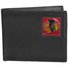 Chicago Blackhawks Black Bifold Wallet NHL Hockey HBI10