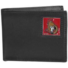 Ottawa Senators Black Bifold Wallet NHL Hockey HBI120