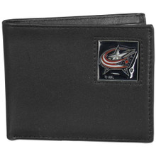 Columbus Blue Jackets Black Bifold Wallet NHL Hockey HBI130