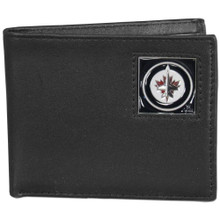 Winnipeg Jets Black Bifold Wallet NHL Hockey HBI155