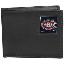 Montreal Canadiens Black Bifold Wallet NHL Hockey HBI30