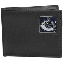 Vancouver Canucks Black Bifold Wallet NHL Hockey HBI35