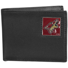 Phoenix Coyotes Black Bifold Wallet NHL Hockey HBI45