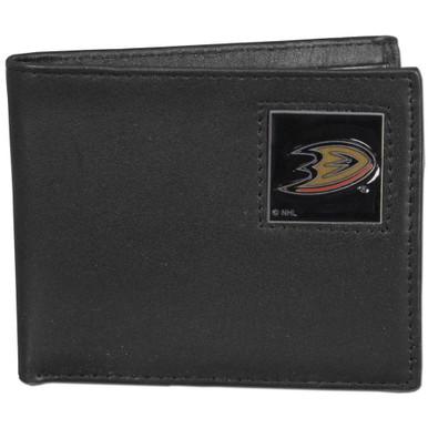 Anaheim Ducks Black Bifold Wallet NHL Hockey HBI55