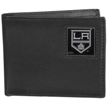 Los Angeles Kings Black Bifold Wallet NHL Hockey HBI75