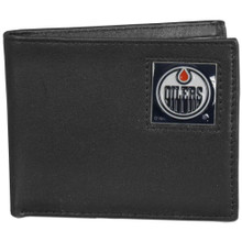 Edmonton Oilers Black Bifold Wallet NHL Hockey HBI90