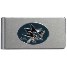 San Jose Sharks Brushed Money Clip NHL Hockey HBMC115