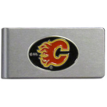 Calgary Flames Brushed Money Clip NHL Hockey HBMC60