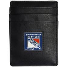 New York Rangers Leather Money Clip Card Holder Wallet NHL Hockey HCH105