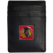 Chicago Blackhawks Leather Money Clip Card Holder Wallet NHL Hockey HCH10