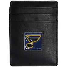 St. Louis Blues Leather Money Clip Card Holder Wallet NHL Hockey HCH15