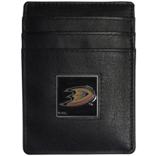 Anaheim Ducks Leather Money Clip Card Holder Wallet NHL Hockey HCH55