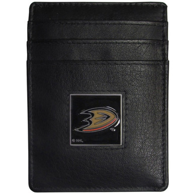 Anaheim Ducks Leather Money Clip Card Holder Wallet NHL Hockey HCH55