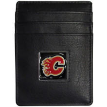 Calgary Flames Leather Money Clip Card Holder Wallet NHL Hockey HCH60