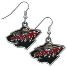 Minnesota Wild Chrome Dangle Earrings NHL Hockey HDE145N