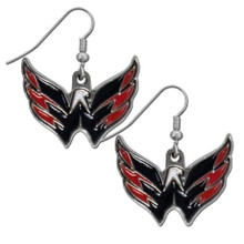 Washington Capitals Chrome Dangle Earrings NHL Hockey HDE150N