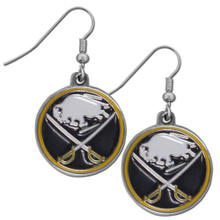 Buffalo Sabres Chrome Dangle Earrings NHL Hockey HDE25N