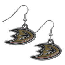 Anaheim Ducks Chrome Dangle Earrings NHL Hockey HDE55N