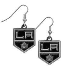Los Angeles Kings Chrome Dangle Earrings NHL Hockey HDE75N