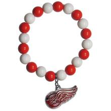 Detroit Red Wings Fan Bead Bracelet NHL Hockey HFBB110