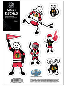 Chicago Blackhawks Small Family Decal Stickers NHL Hockey HFSD10