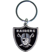Oakland Raiders Chrome Key Logo Chain NFL Football SFCK125