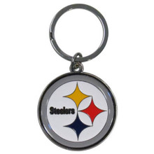 Pittsburgh Steelers Chrome Key Logo Chain NFL Football SFCK160