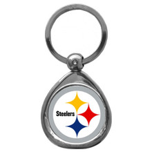 Pittsburgh Steelers Domed Key Chain NFL Football SFK160C