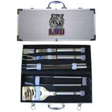LSU Tigers BBQ Set 8 pc NCCA College Sports BBQC43A