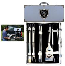 Oakland Raiders 8 pc BBQ Set