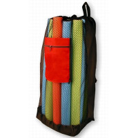 Mesh Backpack with Red Pocket