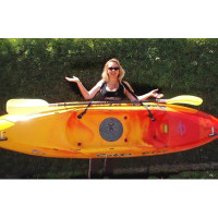 Yaksling In use with Kayak