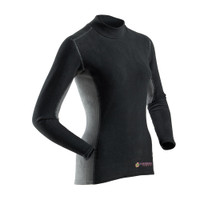 Womens's Long Sleeve Thick Skin - Black - Image