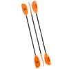Go Kayak Paddle - Orange (Front, Back & Side Views)