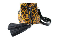 Mini Bucket  Bag - Leopard Leather