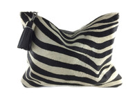 RESTOCKED! Zebra Calf Hair & Leather Clutch - ONLY 2!