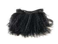 Pom Pom Mongolian Fur & Leather Waist Bag - 3 LEFT!