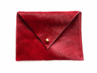 NEW! Red Calf Hair Envelope Mini Clutch - 2 LEFT!