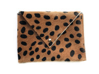 NEW! Spotted Calf Hair Envelope Mini Clutch - LIMITED