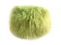 NEW! Fluffie Mongolian Fur Clutch - Chartreuse