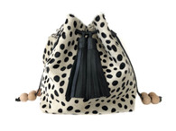 NEW! Boxie Calf Hair Bucket  Bag - Dalmatian