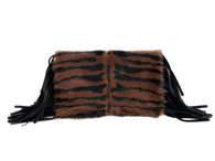 NEW! Wild One Fringe Foldover Clutch