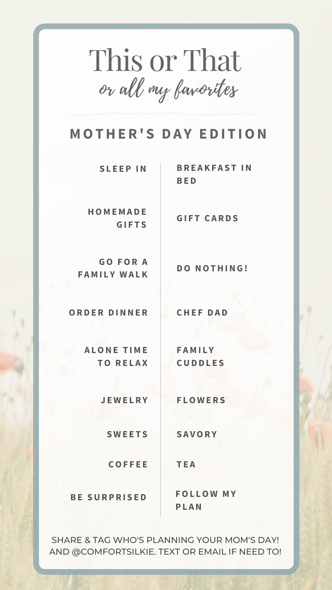 Mom's Day This or That