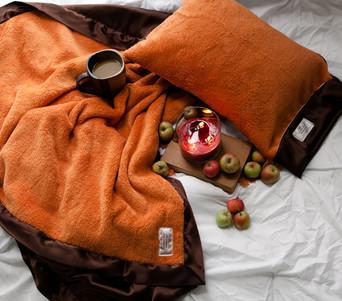 Silkie & Plush Throws or Pillow - Pumpkin