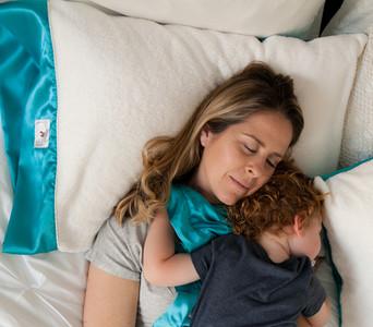 MomLife - Satin Pillow Cover with Creme Plush