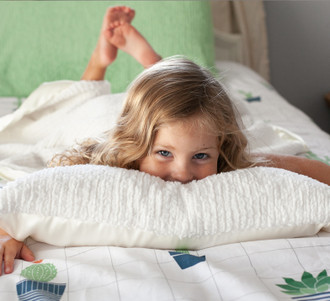 NEW Kids Nap Pillow - Sh-Sh Soft Woven Chenille & Satin