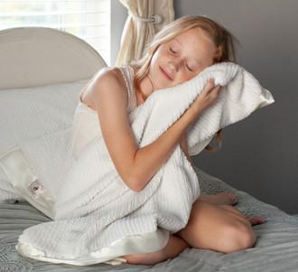 NEW Kids Throws ~ Sh-Sh Soft Woven Chenille & Satin
