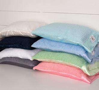 MomLife Nap Pillow - Sh-Sh Soft Woven Chenille & Satin