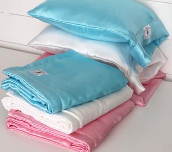 Soft Crushed Satin -  Nap Pillow or Travel Throw