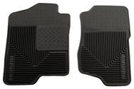 51181 | Black Husky Liners 2007-2014 Silverado/Sierra Front Floor Mats